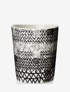 Pattern Mug - kaffekopper - white/black