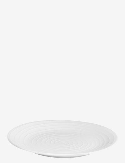 Blond Plate Coupe - ruokalautaset - white/stripe