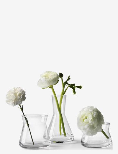 Trio vases set of 3 - maljakot - clear