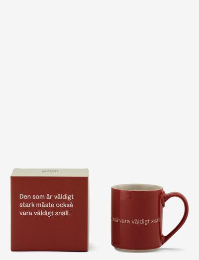Astrid  Lindgren mug - kaffekopper - red
