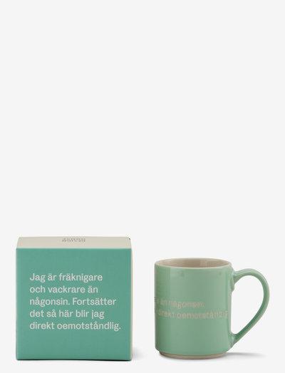 Astrid  Lindgren mug - kahvikupit - green