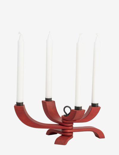 Nordic Light 4-arms Candleholder - kynttilänjalat & kynttilälyhdyt - red