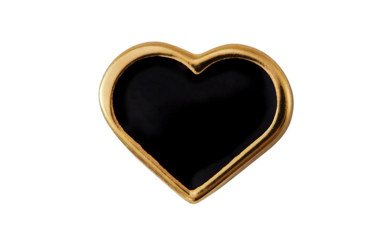 Enamel Heart CharmGoldblackDesign Enamel Letters Heart XuOPZTki