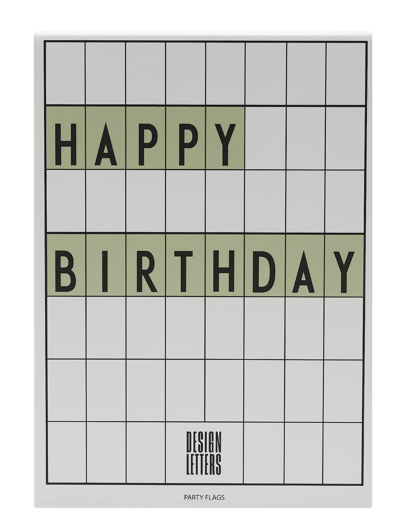 Design Letters Happy Birthday flags - GREEN