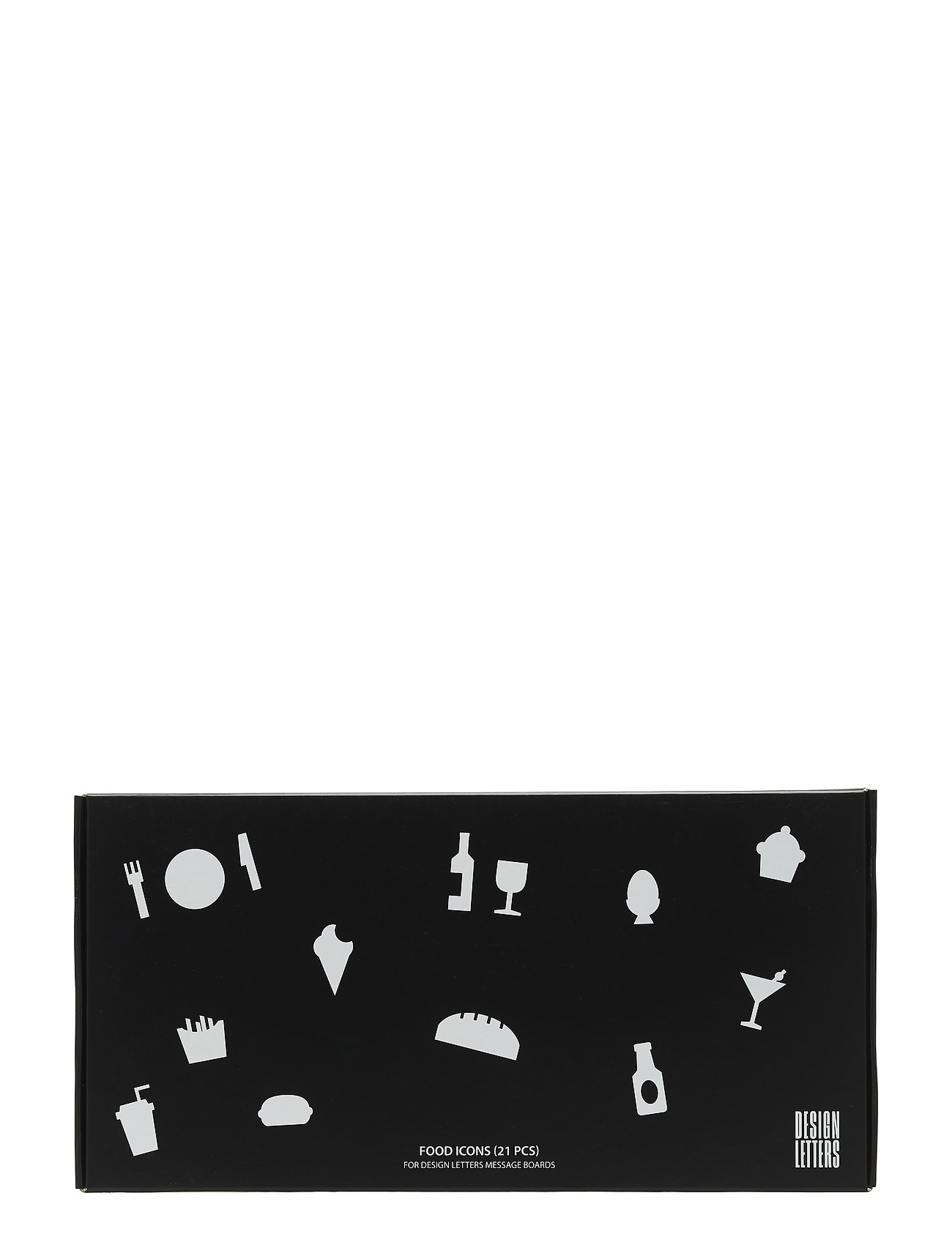 Design Letters Food Icons for message board (21 pcs) - BLACK