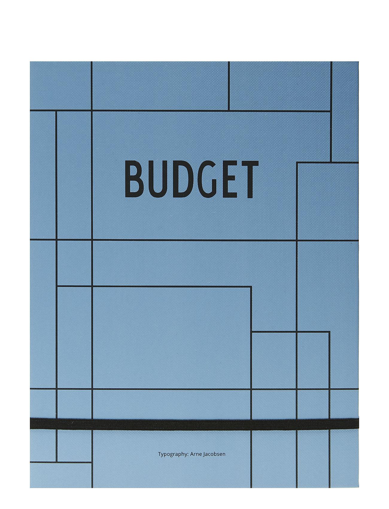 Design Letters Budget book - BLUE