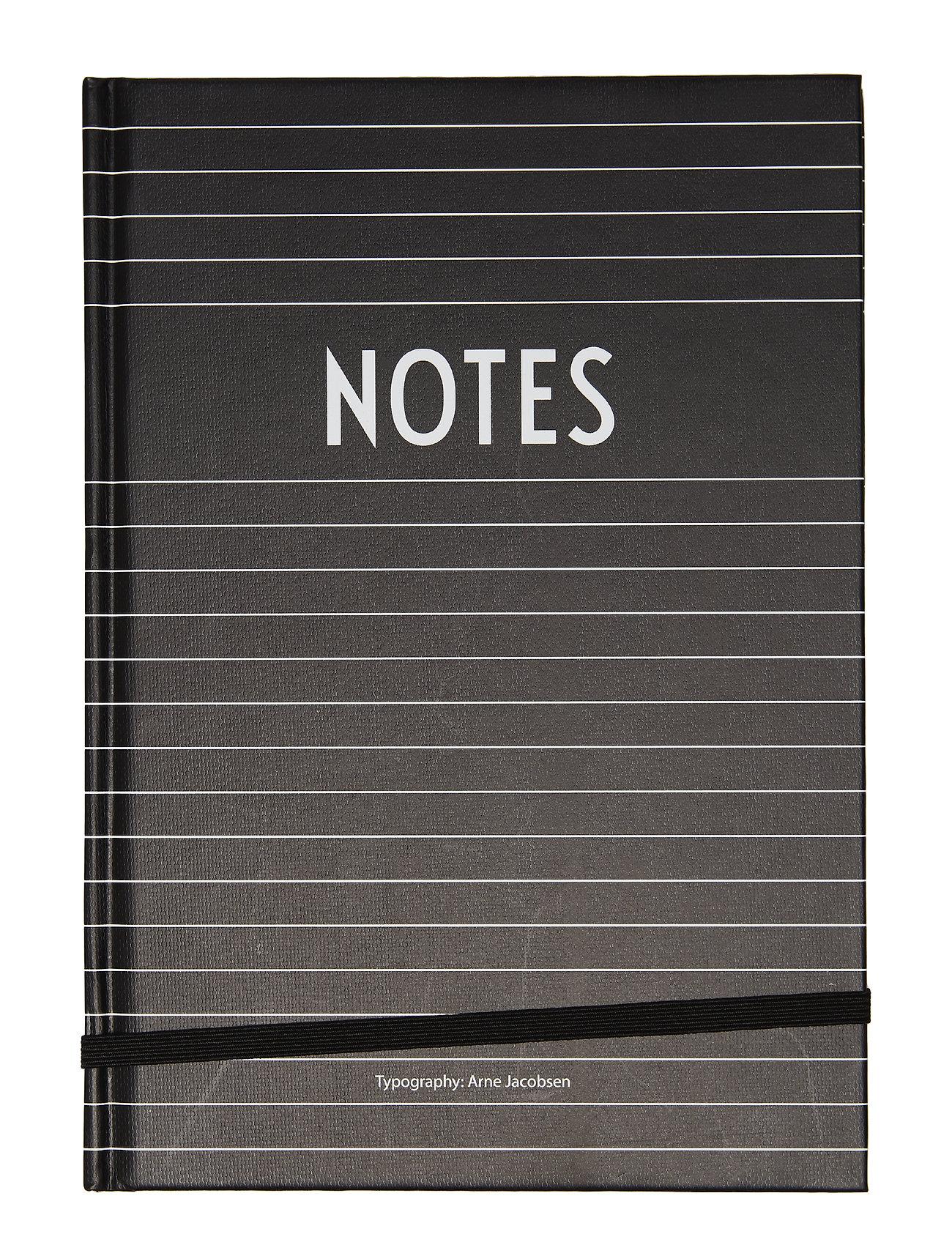Design Letters Notes book - BLACK