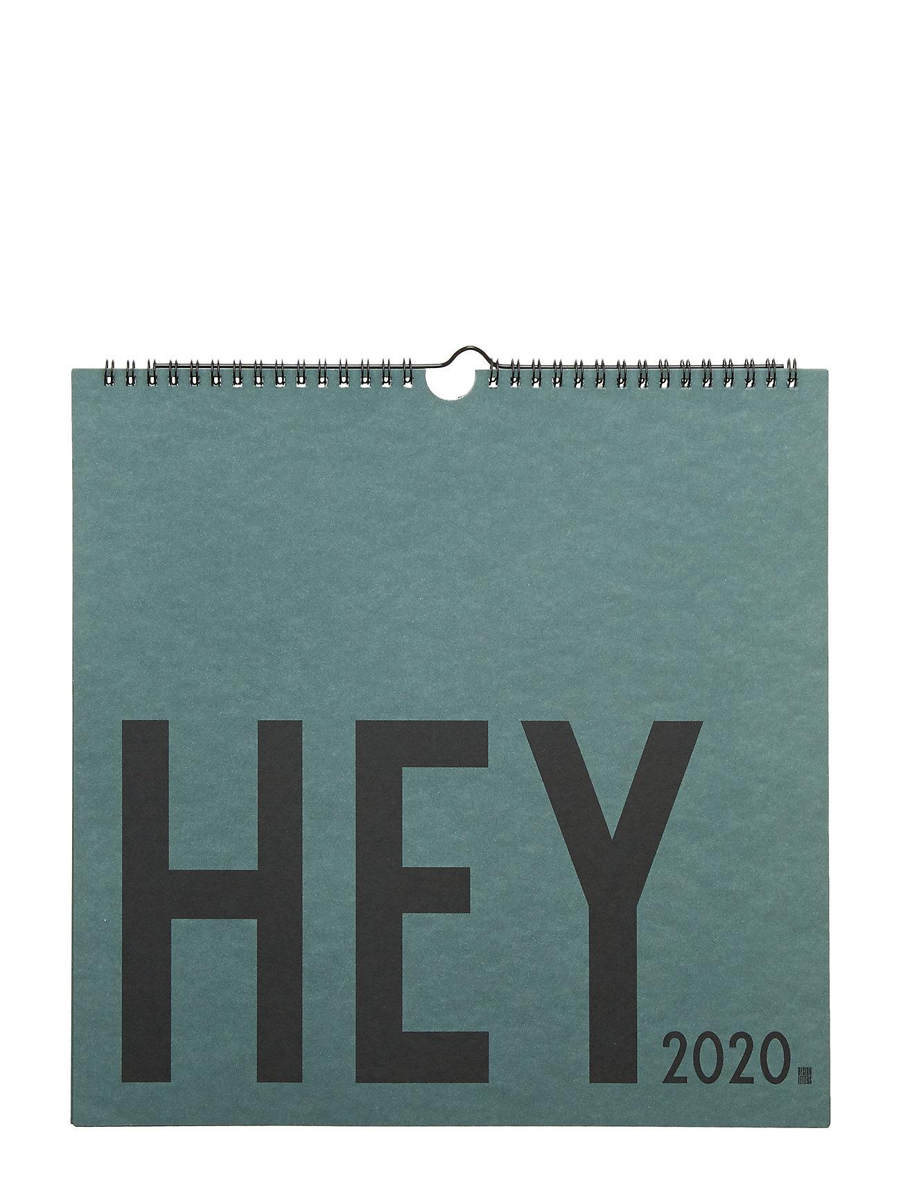 Design Letters Wall Calendar, 2020 - GREEN
