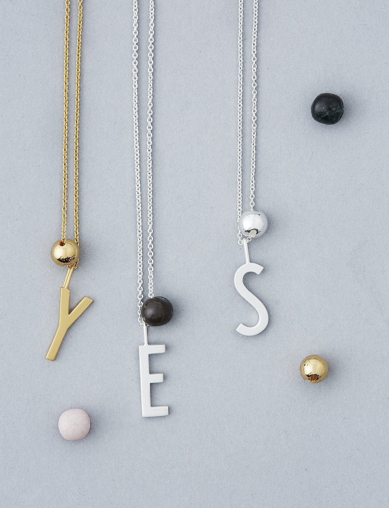 Design Letters - BALL CHARM - pendentifs - gold