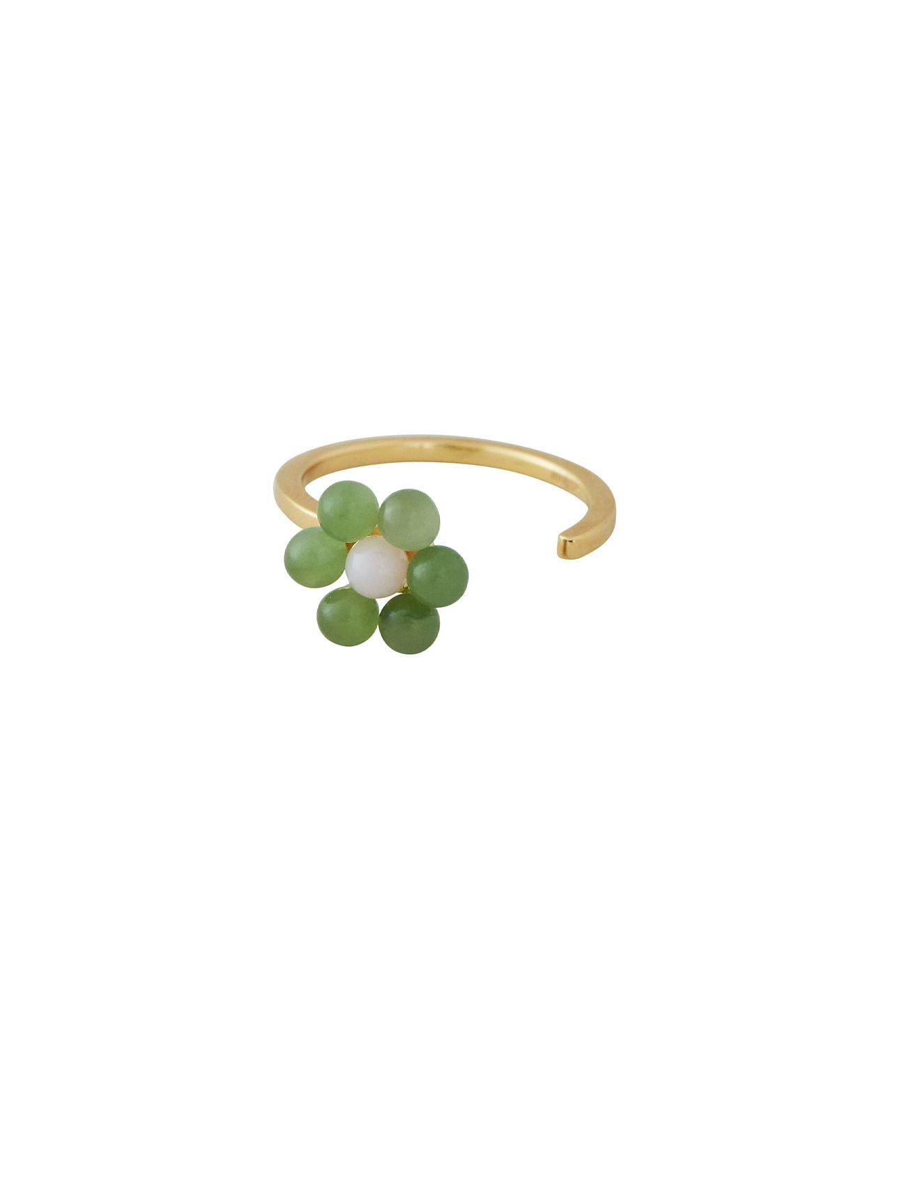 My Flower Ring 10 Mm Gold Ring Smykker Guld Design Letters