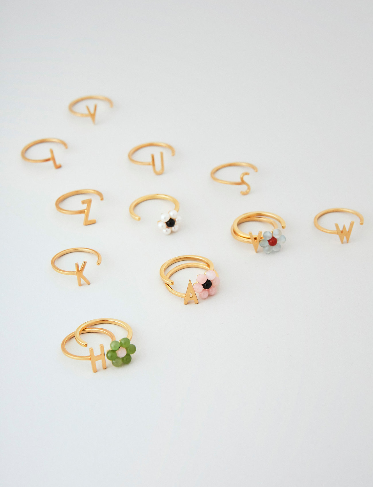 Design Letters - My Flower Ring 10 mm GOLD - bagues - pink - 0