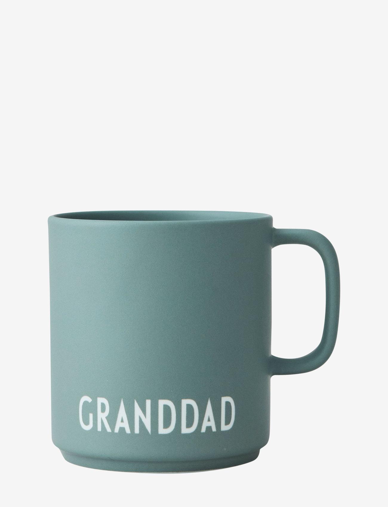 Design Letters - Favourite cup with handle - tasses à café - dusty green - 0