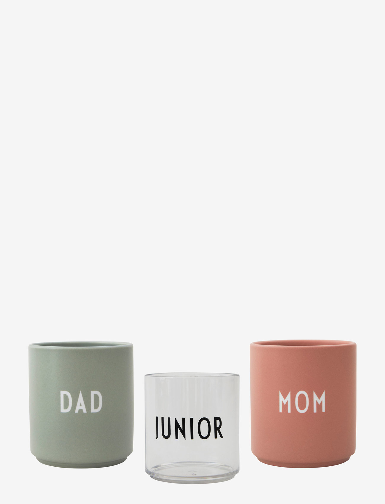 Design Letters - Family Gift Box - tasses à café - nude / green - 1