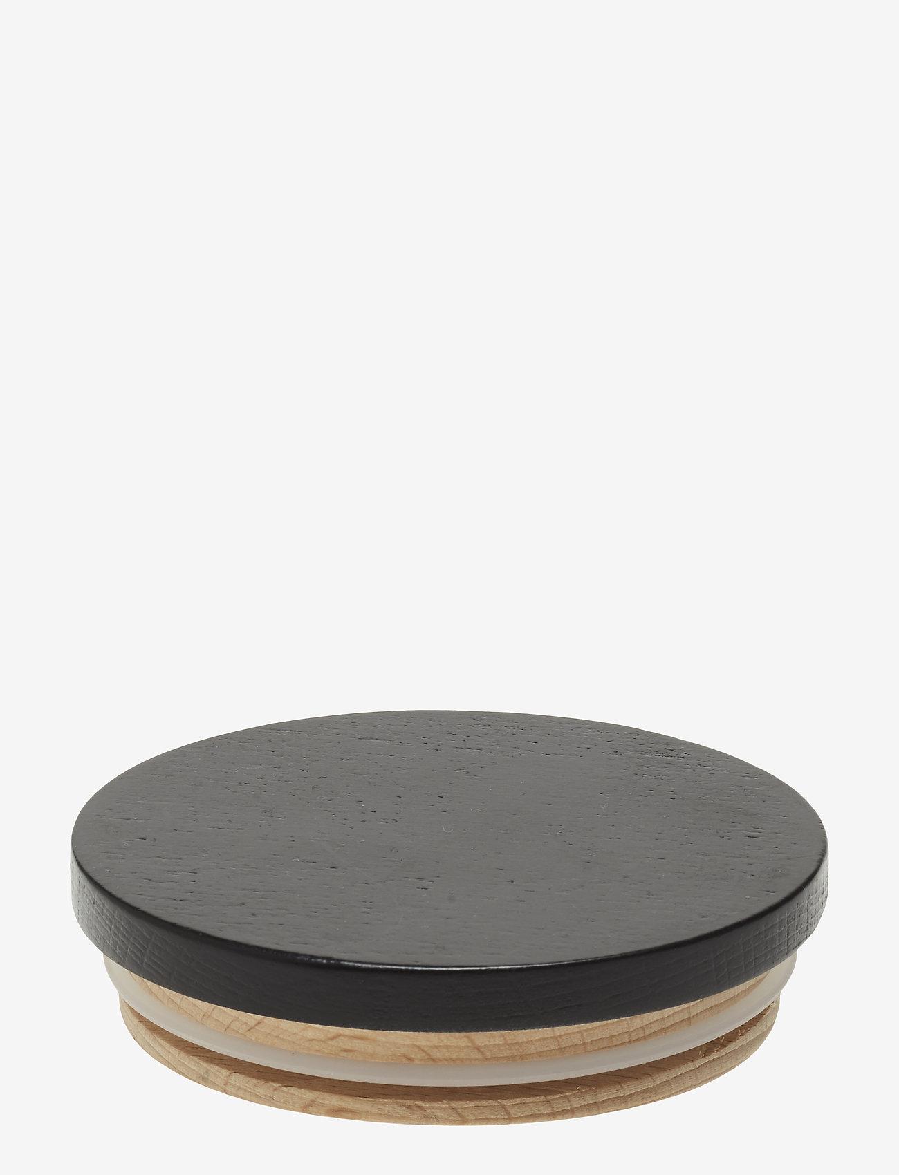 Design Letters - Wooden lid for porcelain cup - tasses à café - black - 0