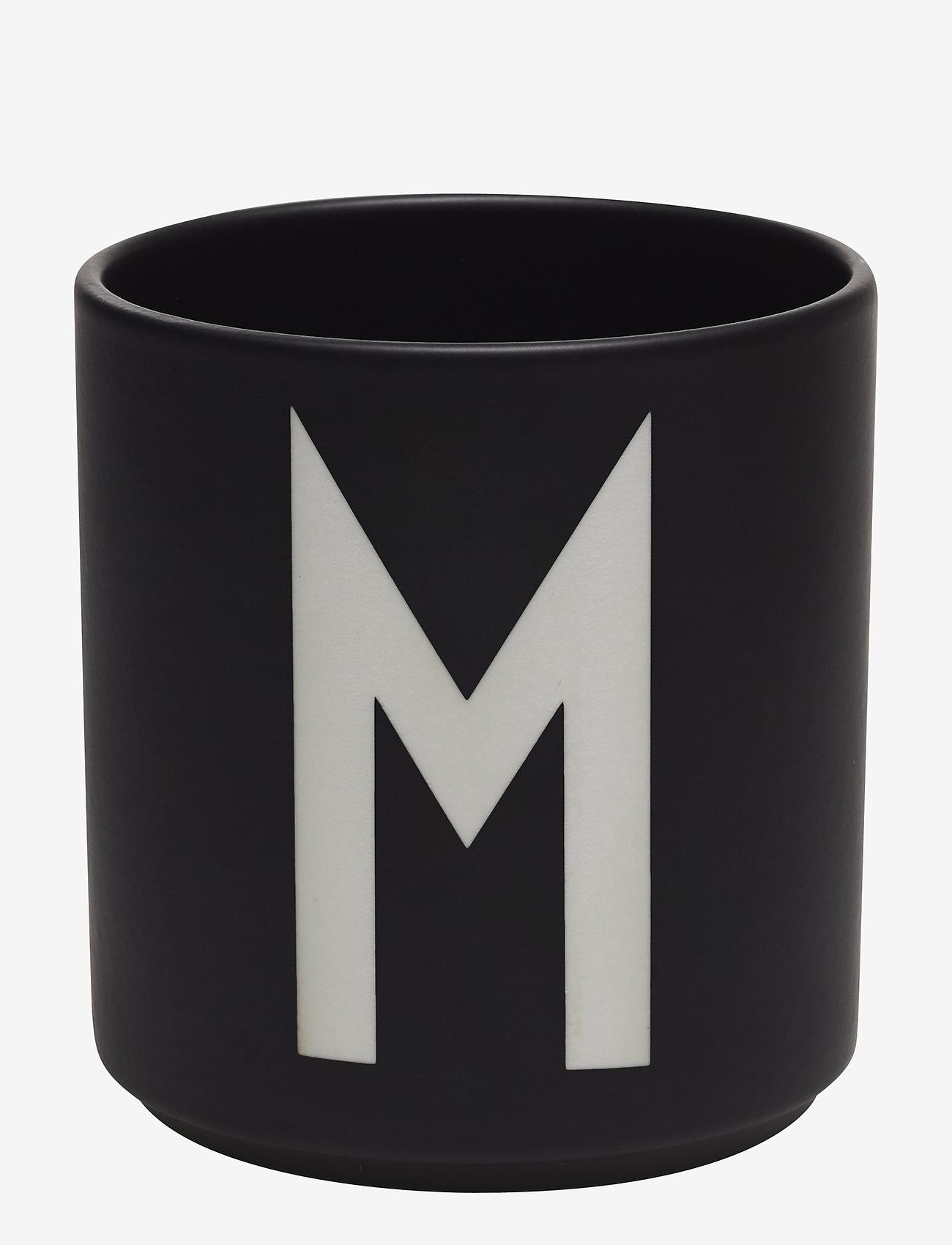 Design Letters - Black Porcelain Cups A-Z - tasses à café - black - 0