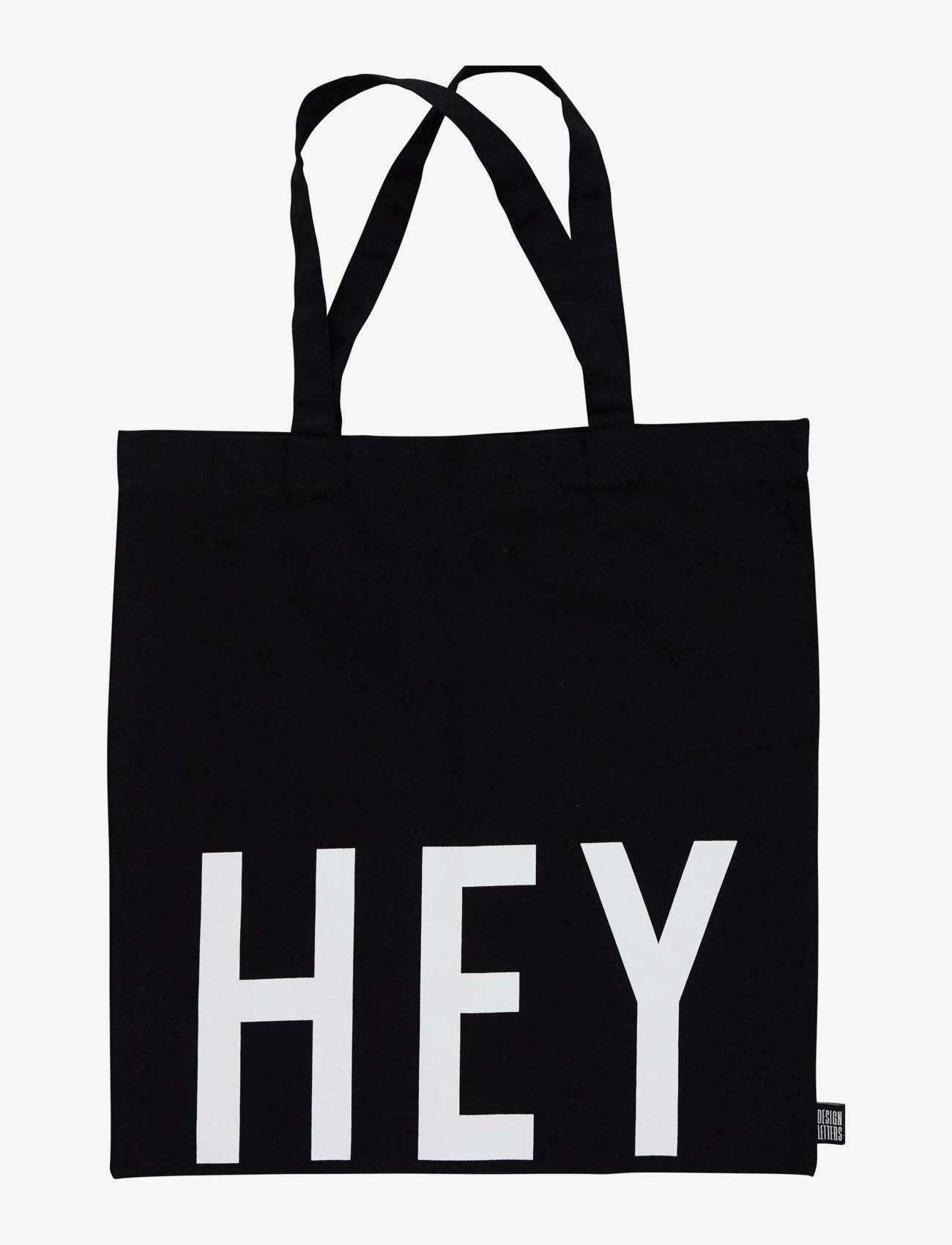 Design Letters - Tote bag black - sacs en toile - black - 0