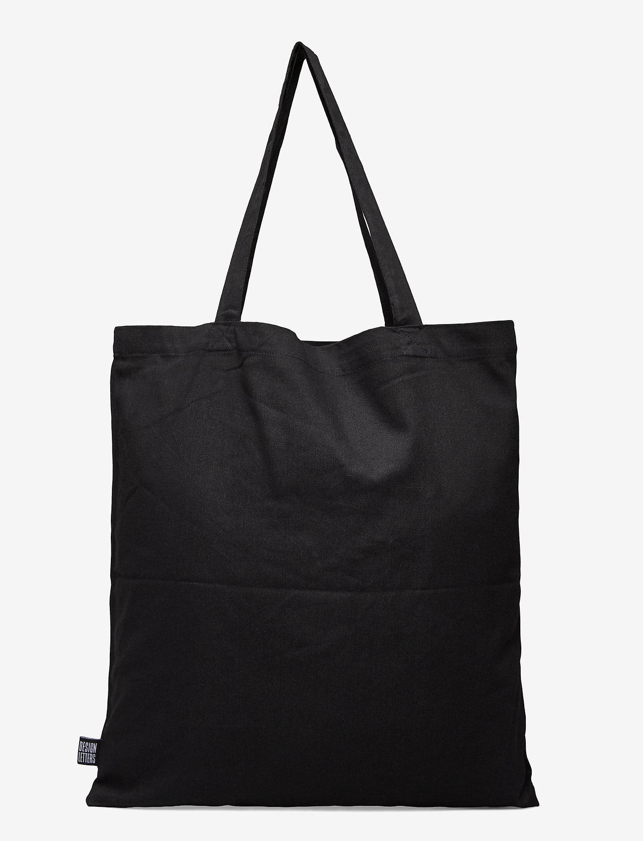 Design Letters - Tote bag black - sacs en toile - black - 1