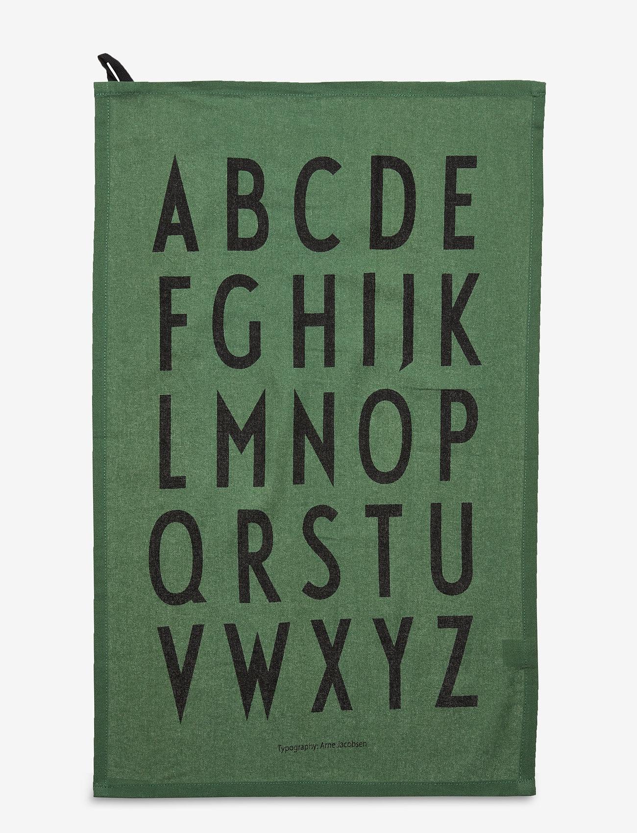 Design Letters - Classic Tea Towel 2-pack - torchons - darkgreen - 0