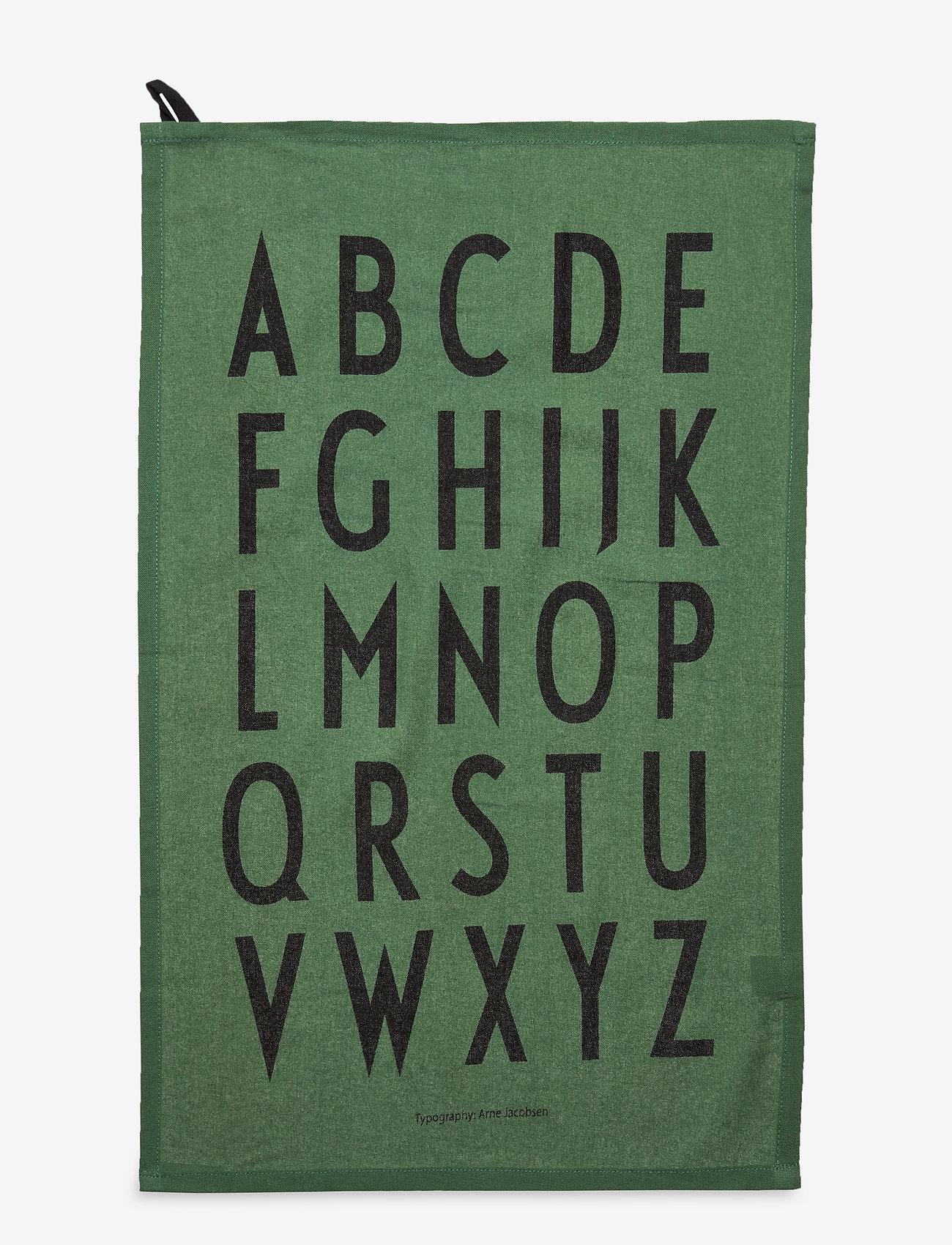 Design Letters - Classic Tea Towel 2-pack - torchons - darkgreen - 1
