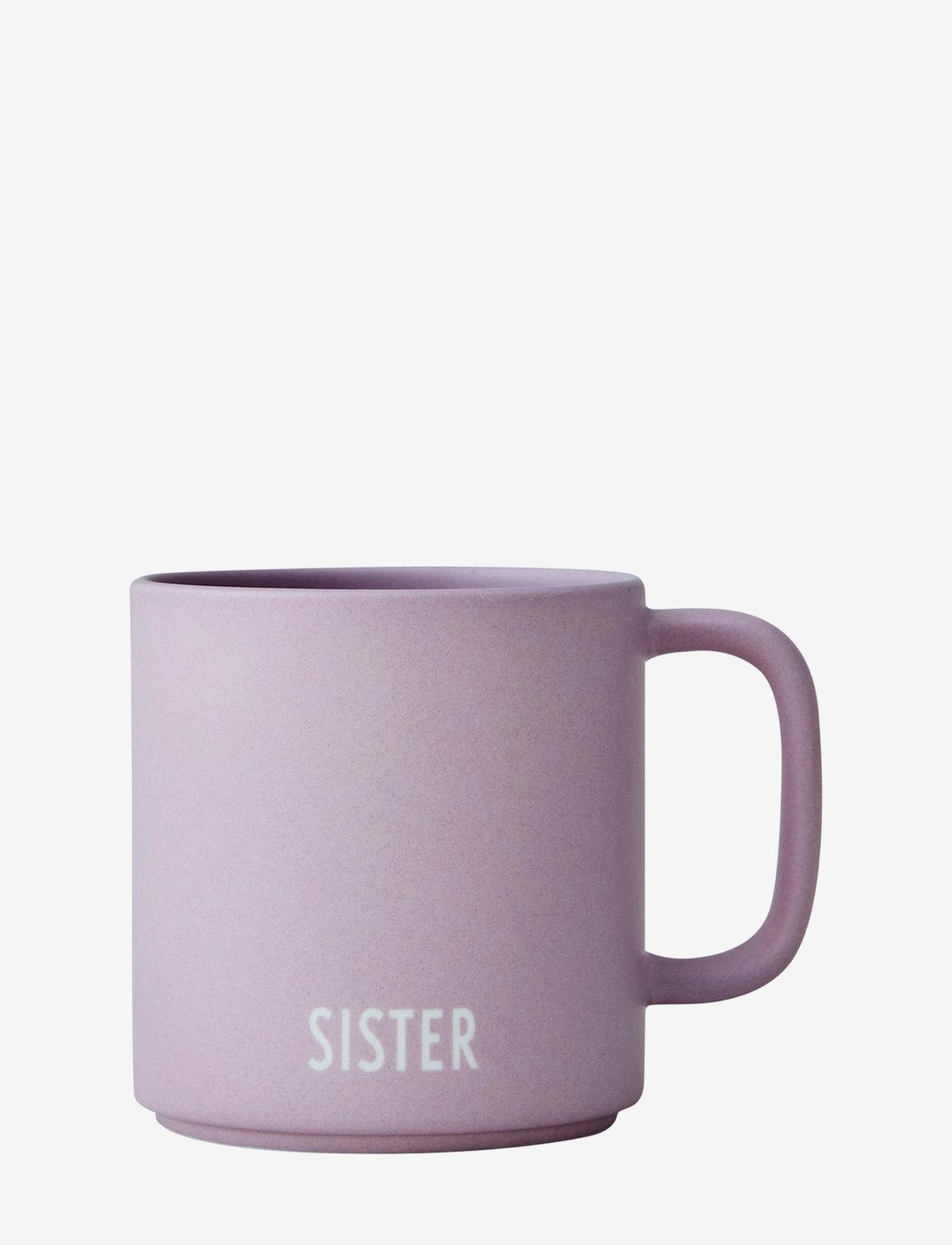 Design Letters - Siblings Cup (fine bone) - tasses à café - lavender - 1