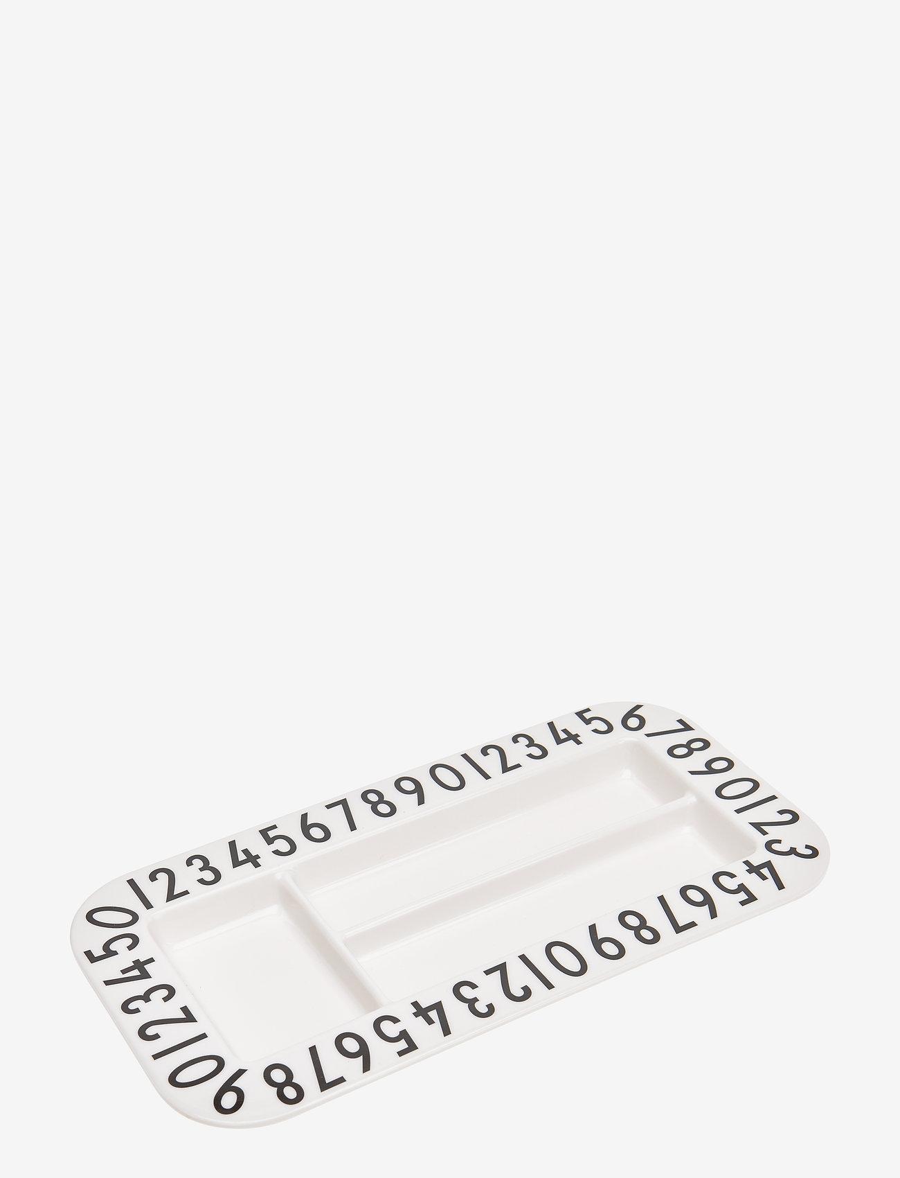 Design Letters - Melamine snack plate Rectangular - talerze i miski - white - 0