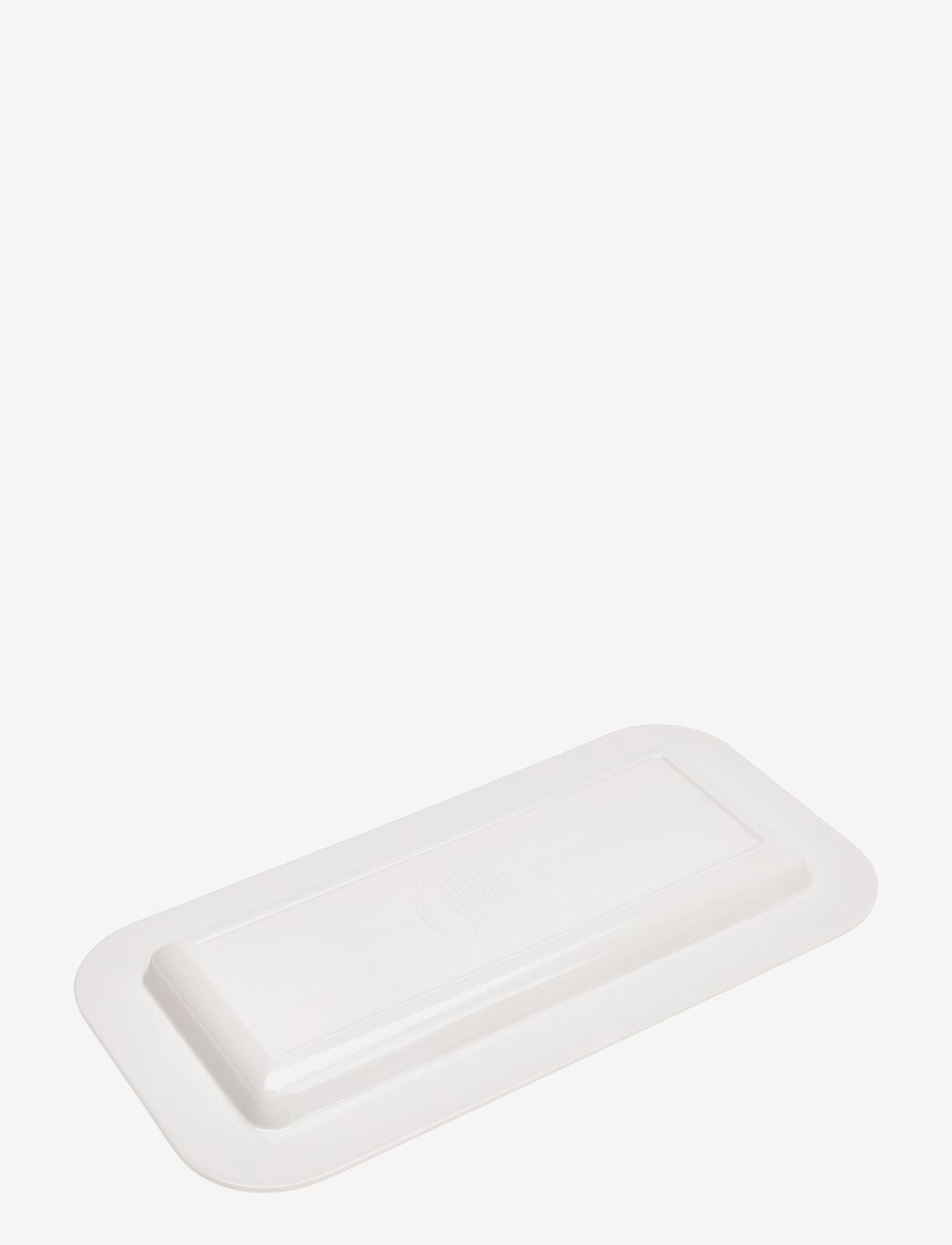 Design Letters - Melamine snack plate Rectangular - talerze i miski - white - 1