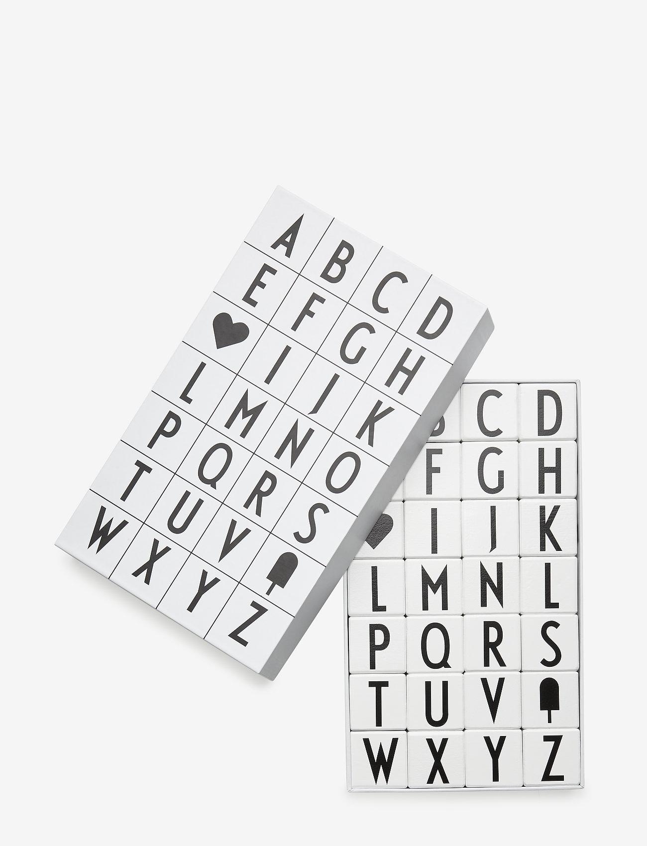 Design Letters - WOODEN CUBES A-Z - wystrój domu - whte - 0