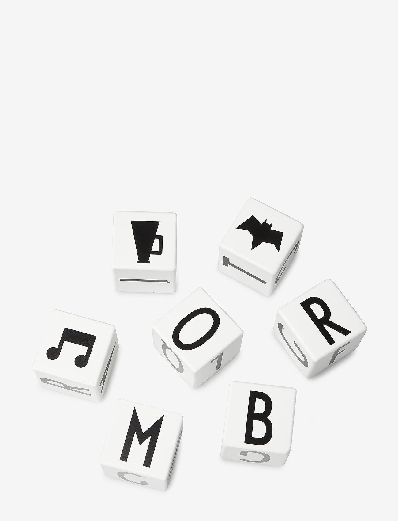 Design Letters - WOODEN CUBES A-Z - wystrój domu - whte - 1