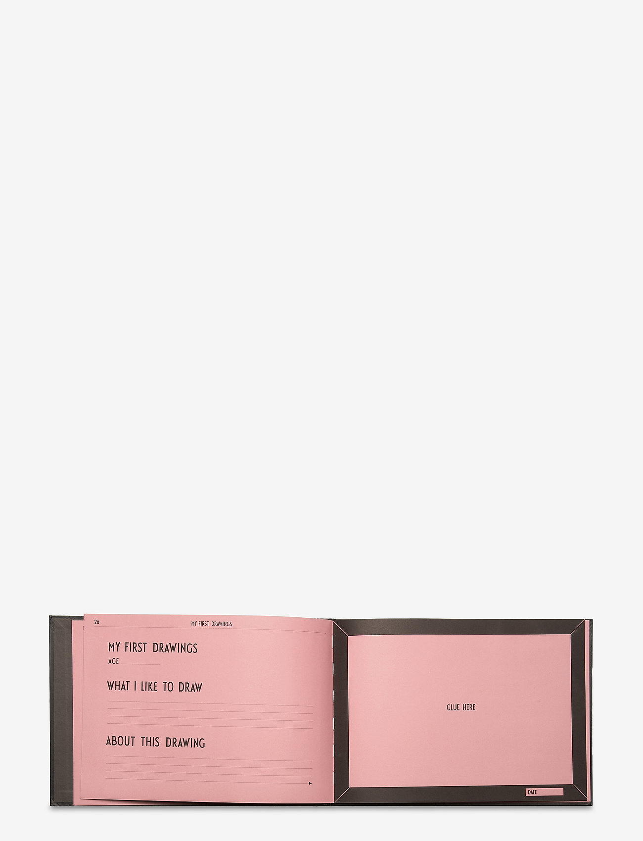 Design Letters - THE LITTLE MEMORY BOOK ABOUT LITTLE ME - wystrój domu - pink - 1