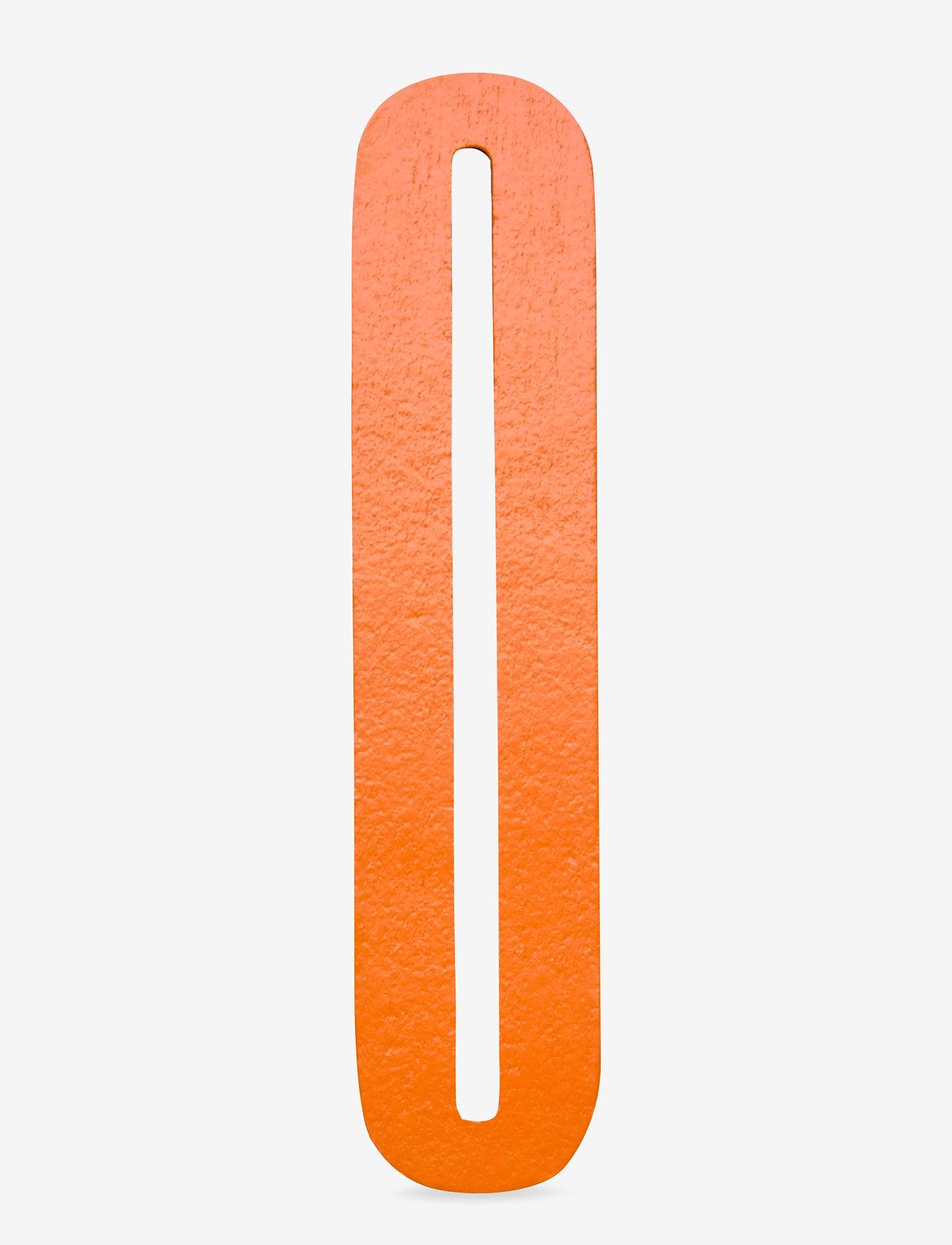 Design Letters - Orange wooden letters - accessoires décoratifs - orange - 0
