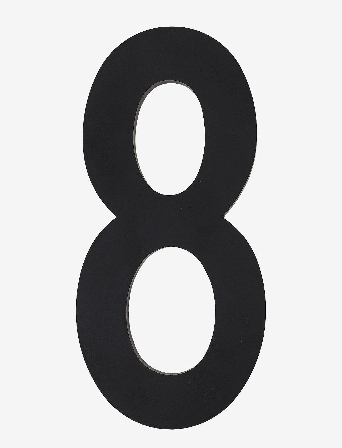Design Letters - Architecht numbers 100 mm - wystrój domu - black - 0