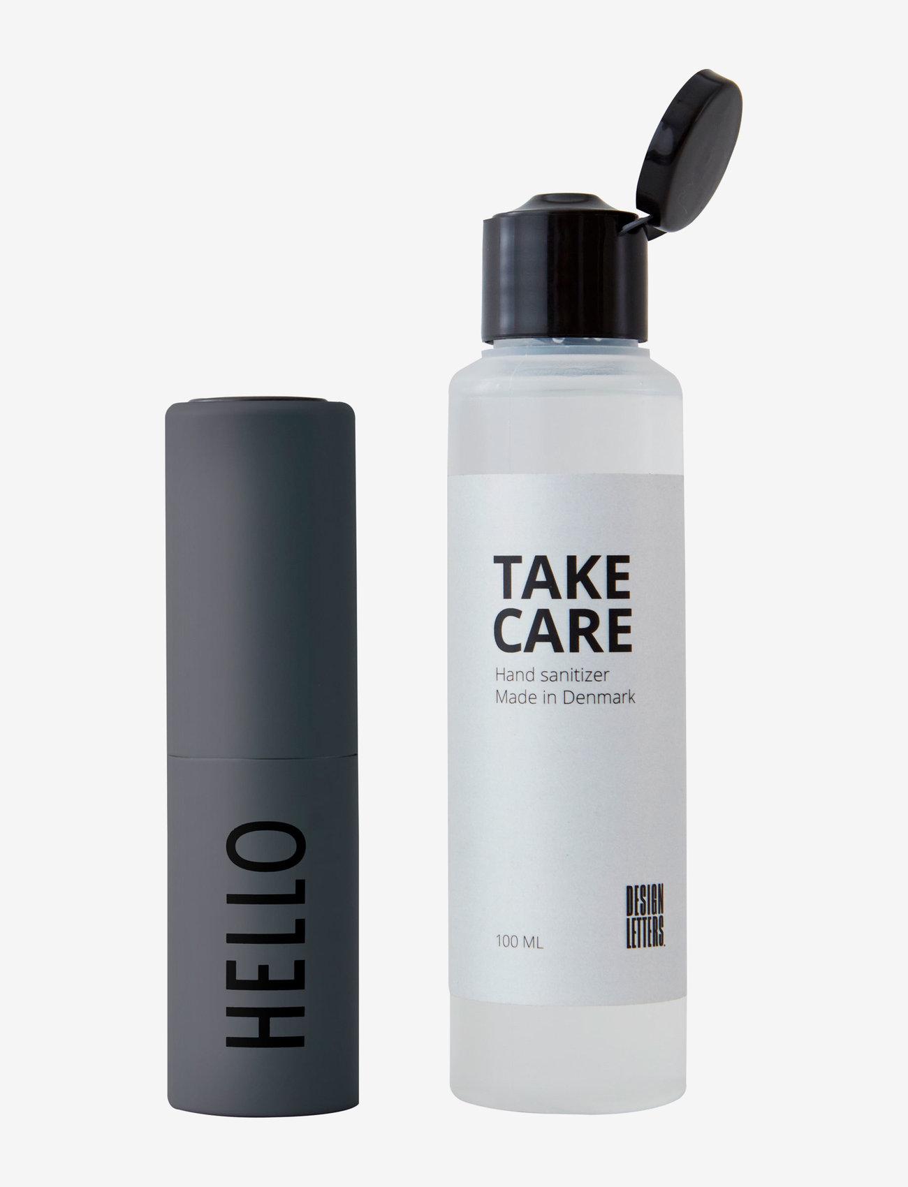 Design Letters - TAKE CARE Bag size dispenser for refill - doft - dark grey - 0