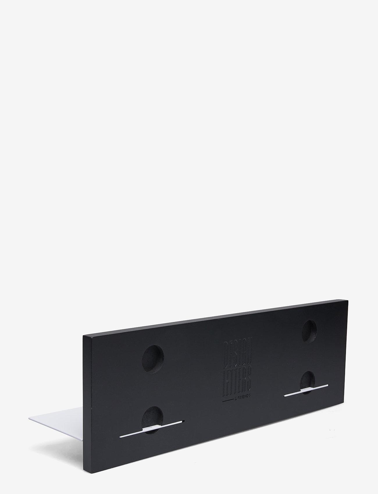 Design Letters - Black Single shelf - etagères et rangements - black - 1