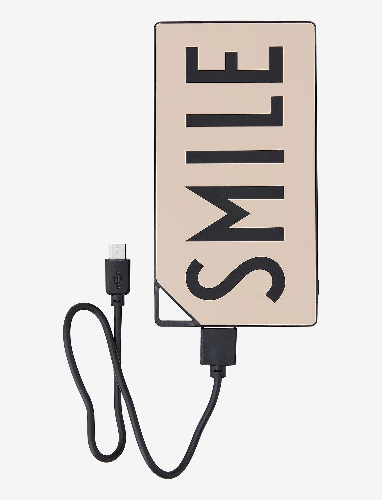 Design Letters - Power bank - chargeurs et câbles - nude - 0