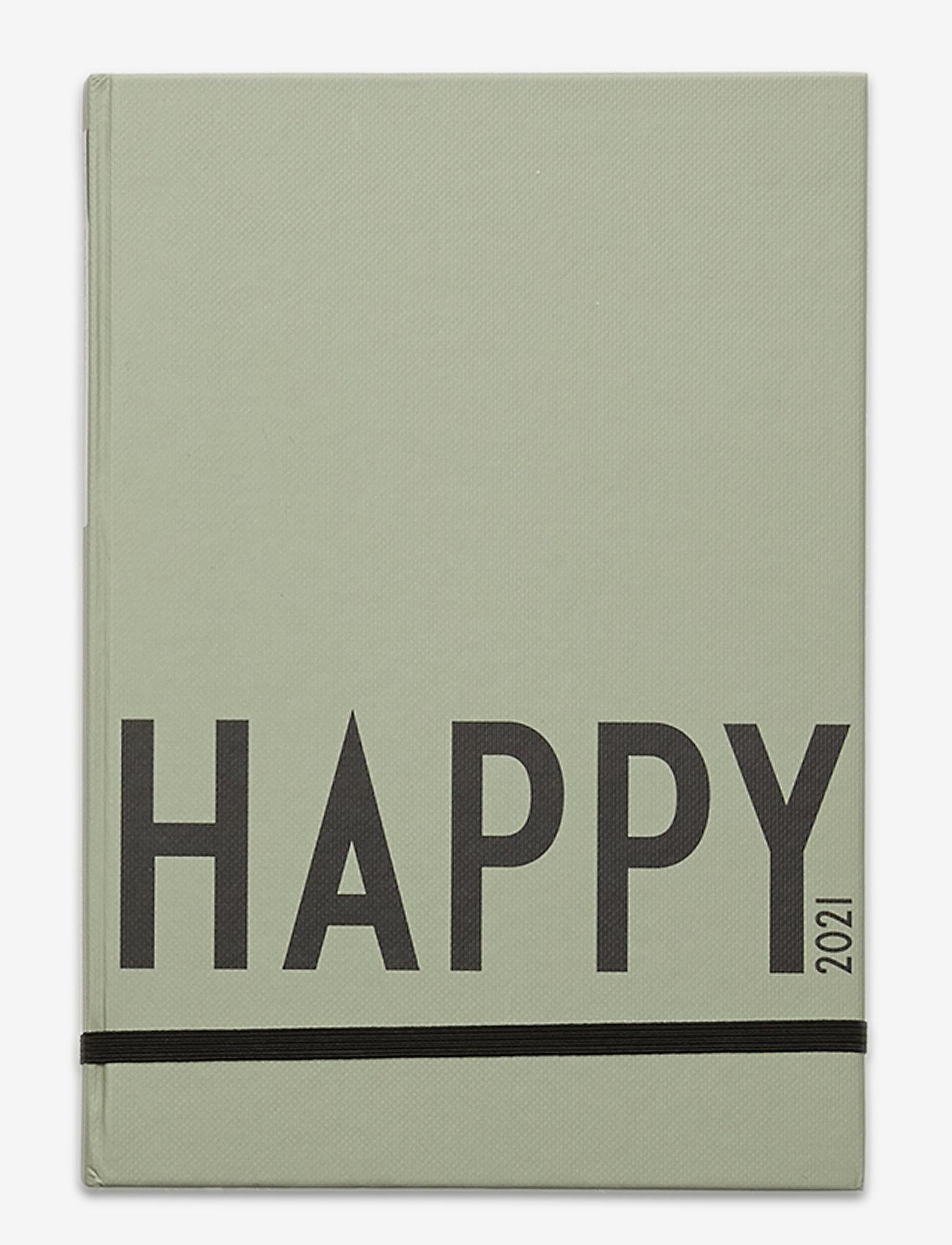 Design Letters - Calendar 2021 - interiør - darkgreen 5507u - 0
