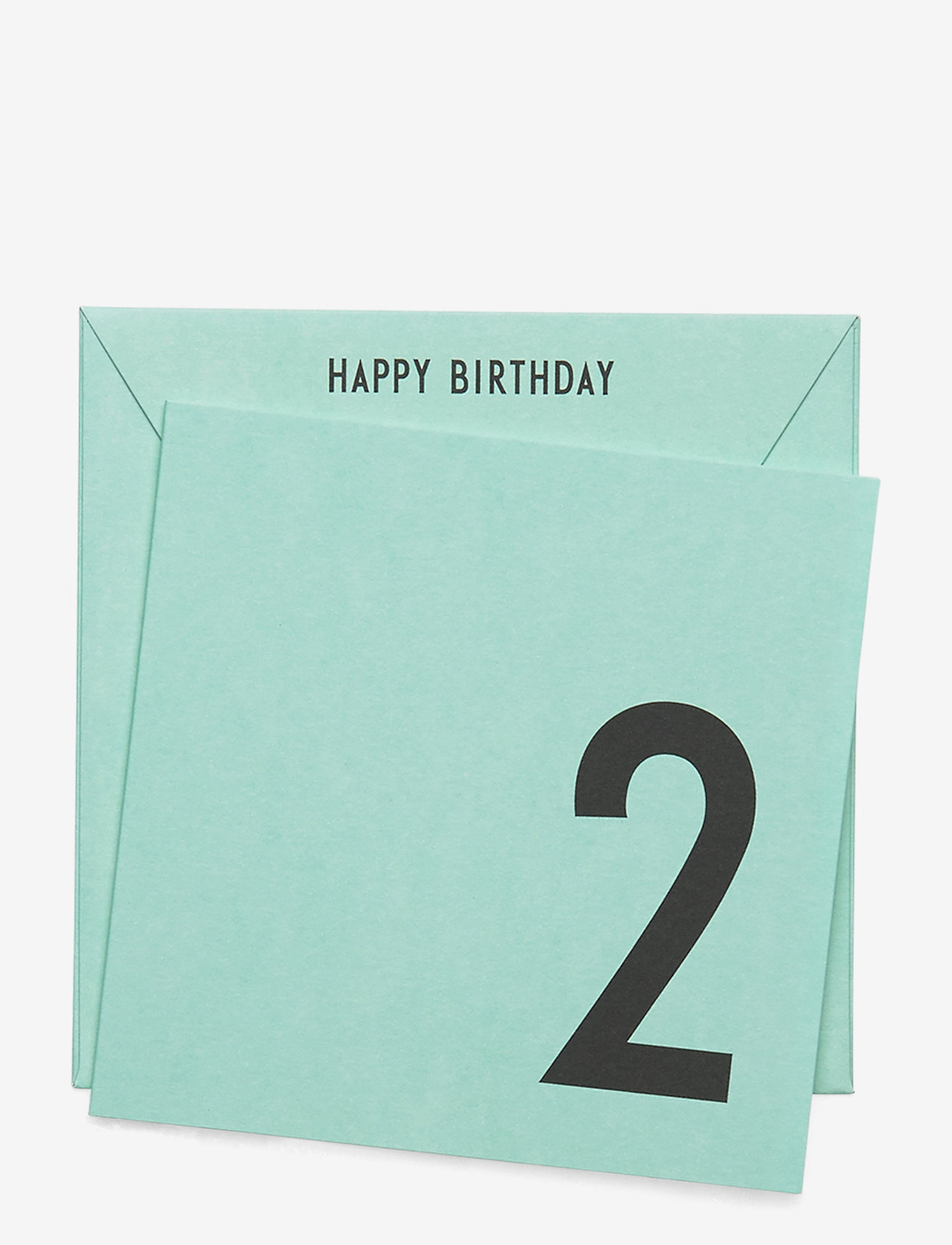 Design Letters - Birthday card - green - 0