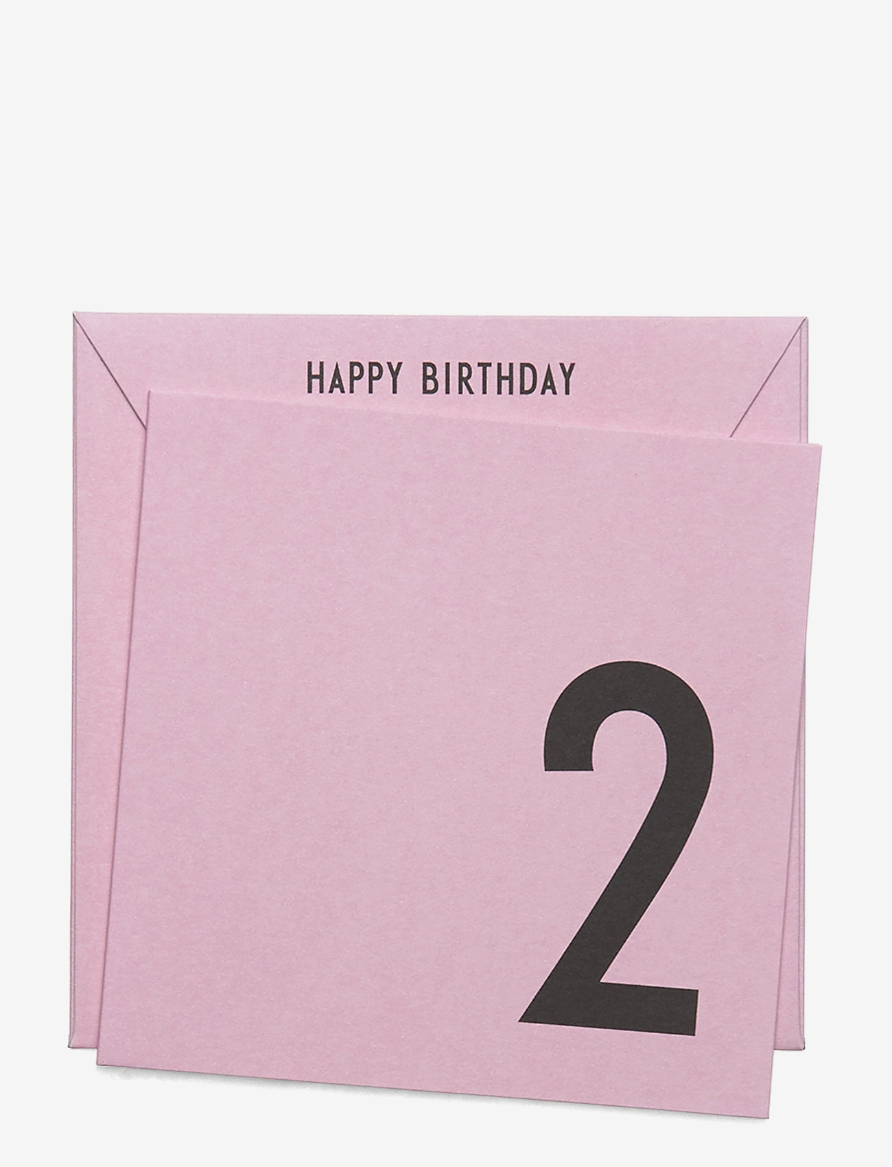 Design Letters - Birthday card - pink - 0