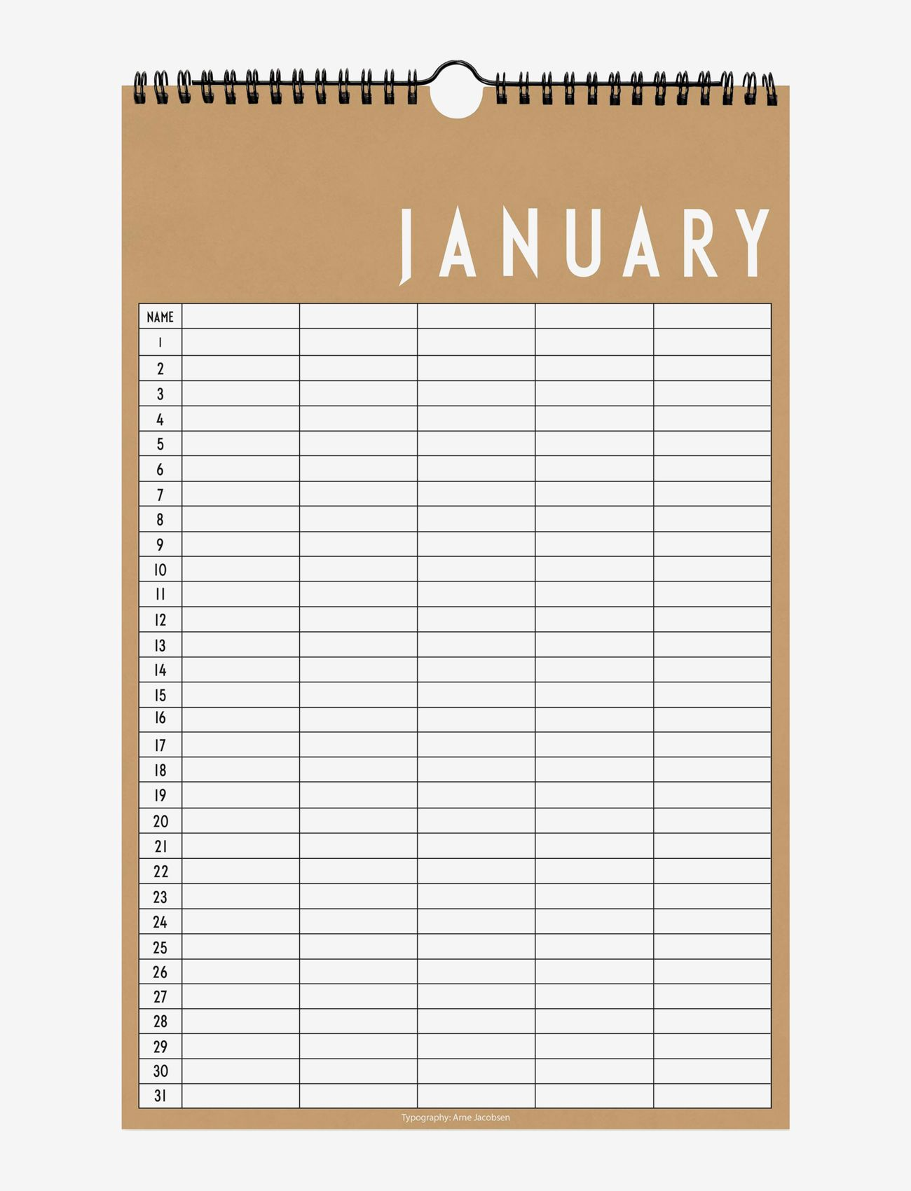 Design Letters - Monthly planner - fournitures de bureau - beige - 0