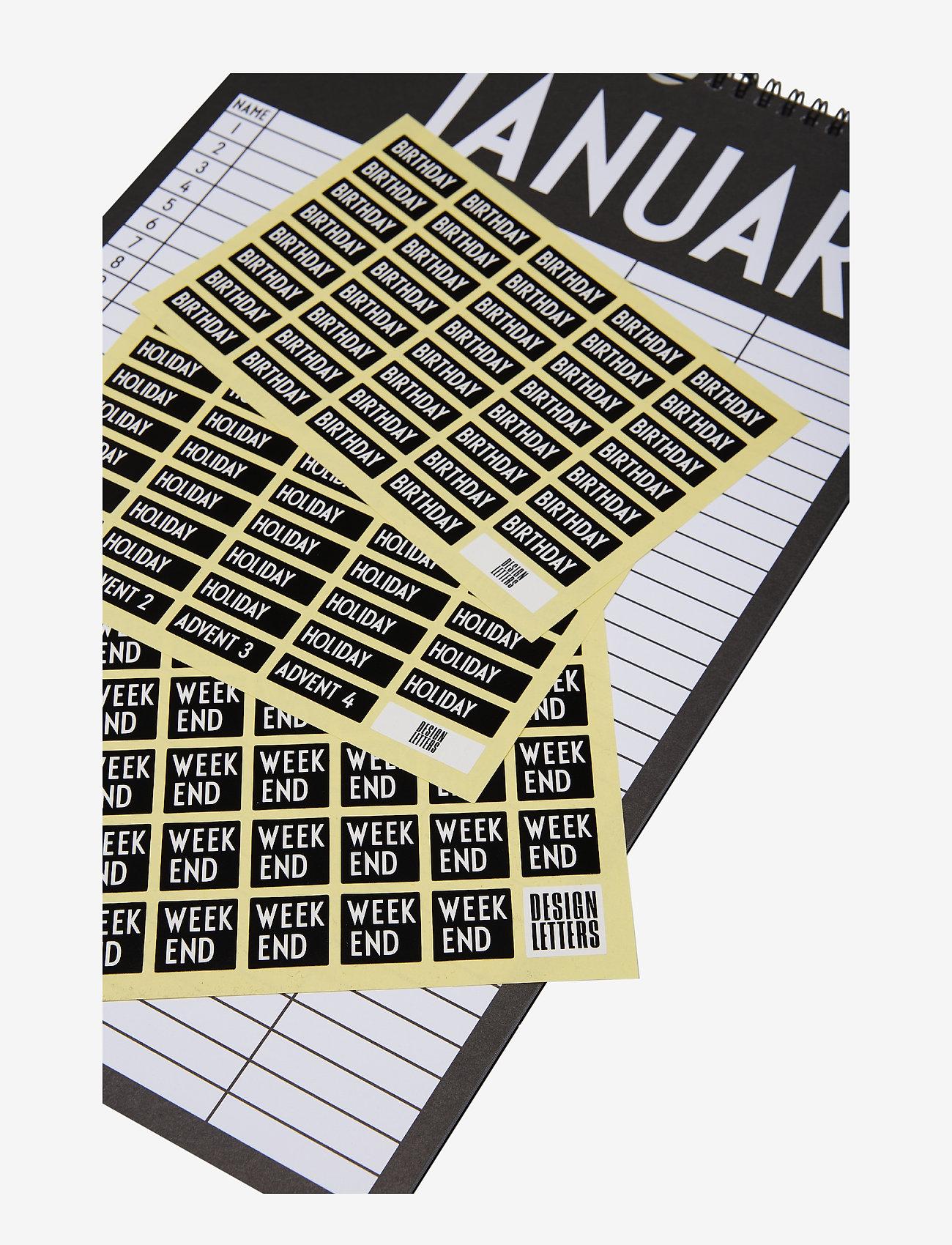 Design Letters - Monthly planner - fournitures de bureau - black - 1