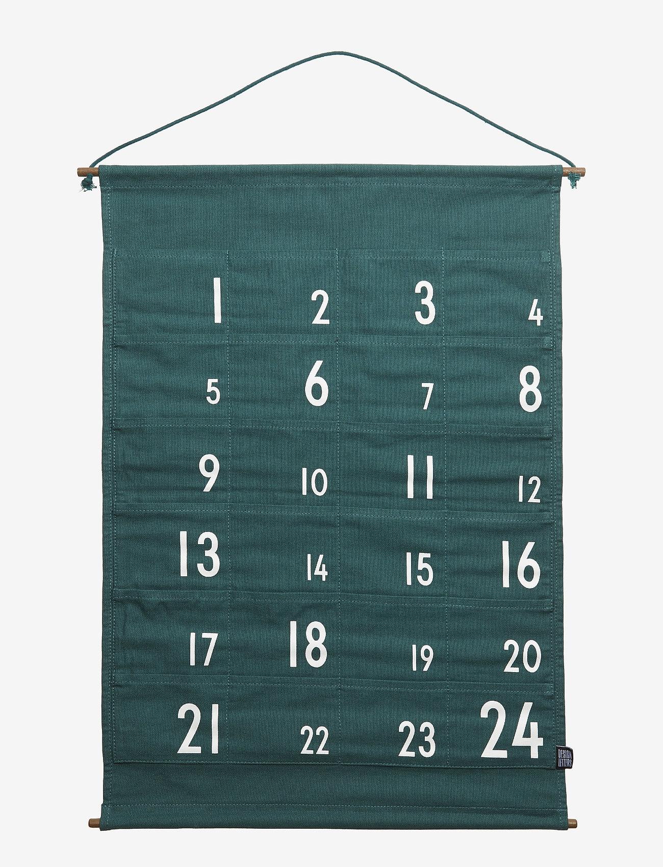 Design Letters - christmas calendar green - wystrój domu - green - 0