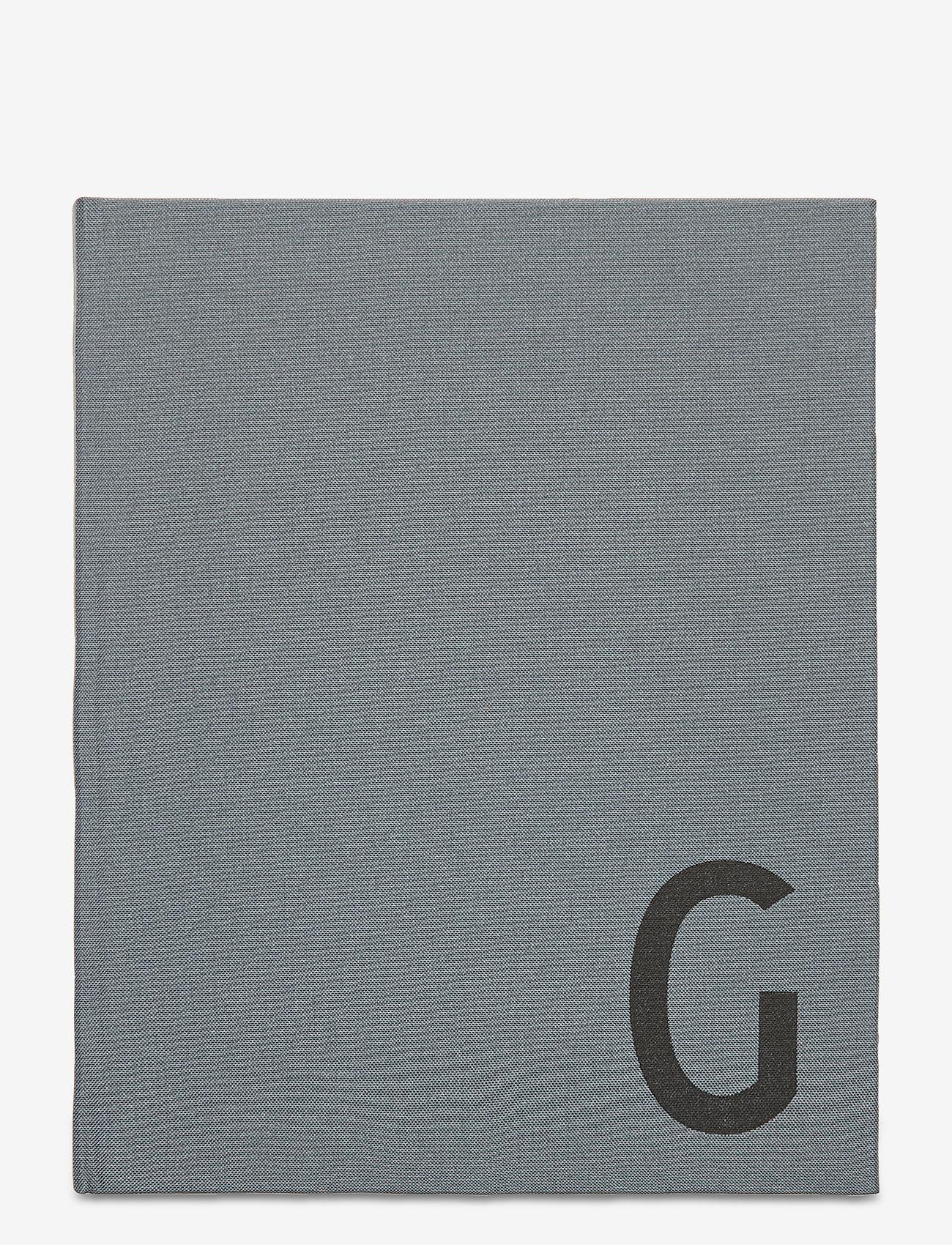 Design Letters - Personal textil notebook - décor - grey - 0