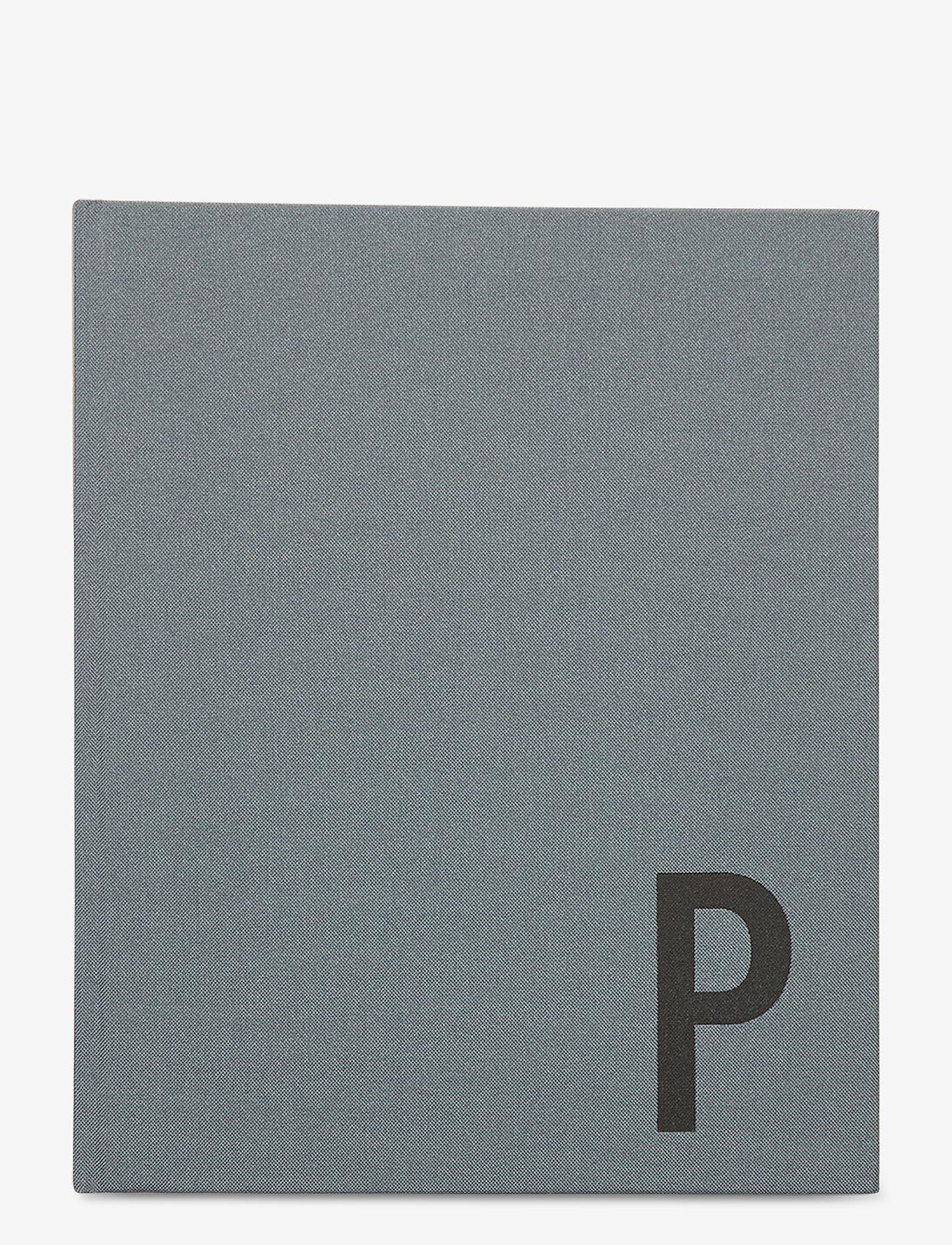 Design Letters - Personal textil notebook - wystrój domu - grey - 0