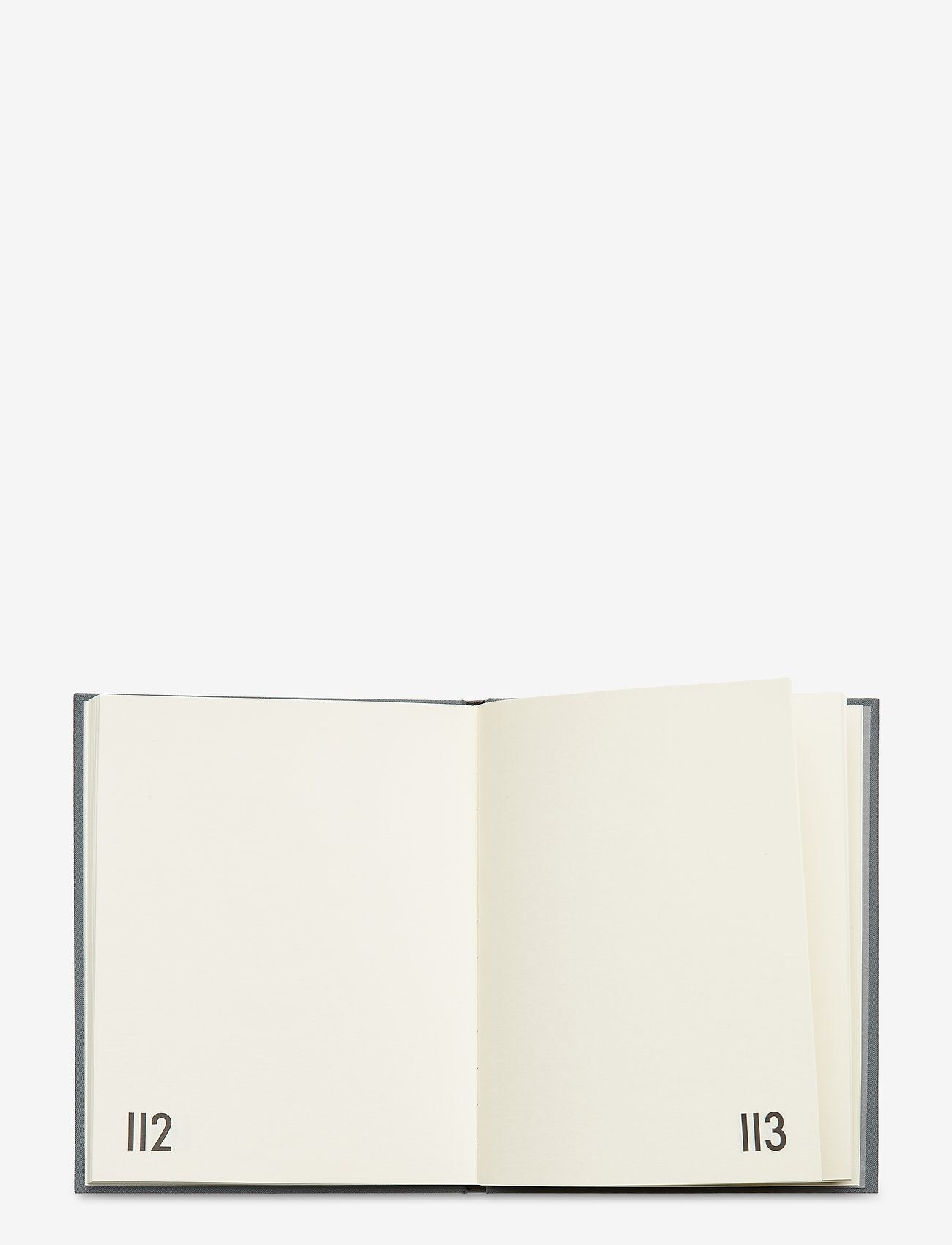 Design Letters - Personal textil notebook - wystrój domu - grey - 1
