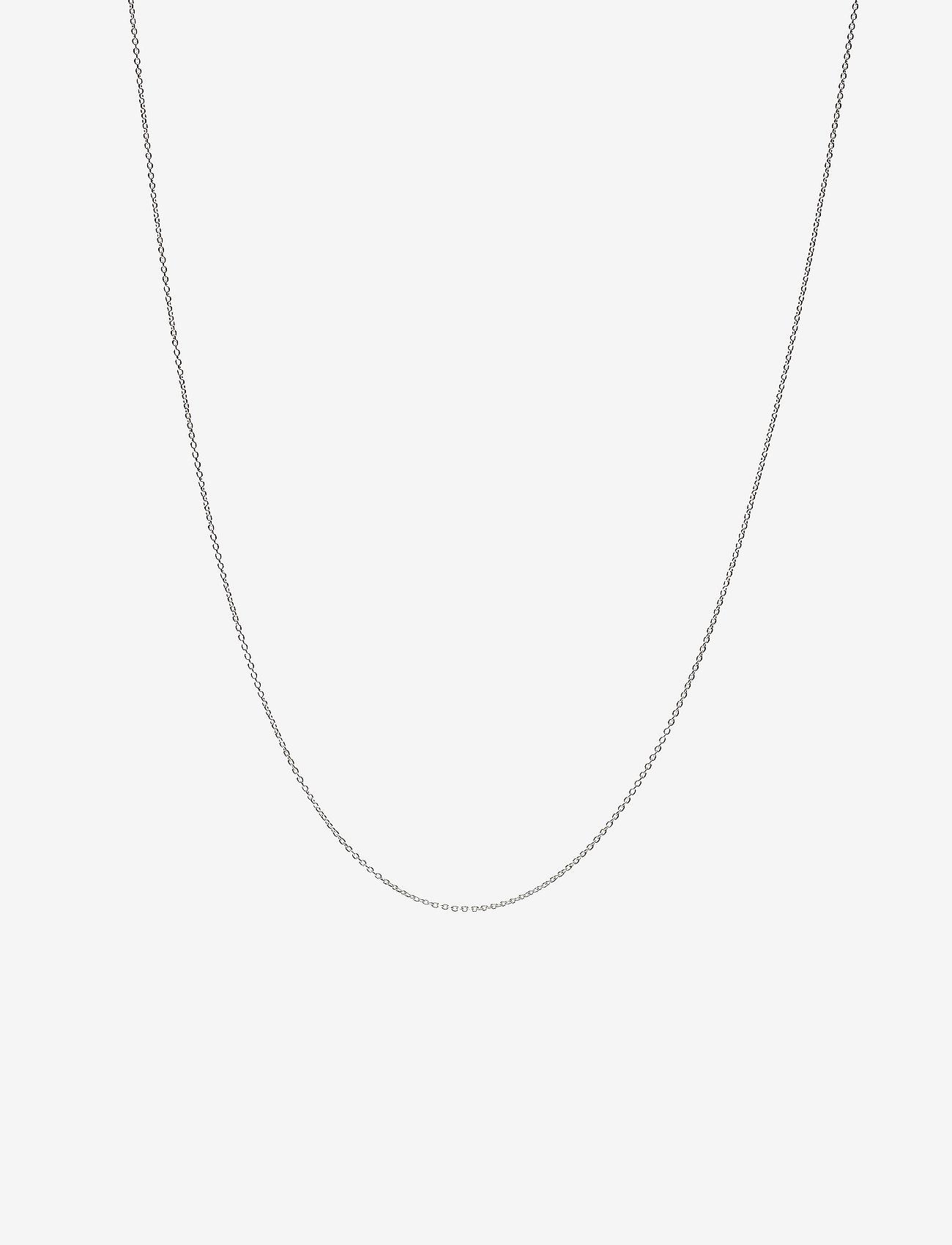 Design Letters - NECKLACE CHAIN 80 CM - dainty necklaces - silver