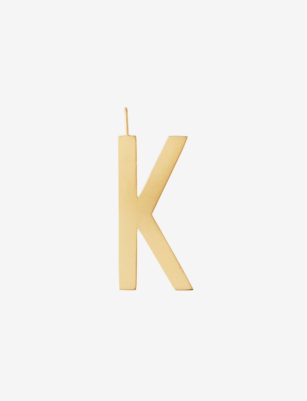 Design Letters - ARCHETYPES 30 MM, GOLD, A-Z - pendentifs - gold - 0