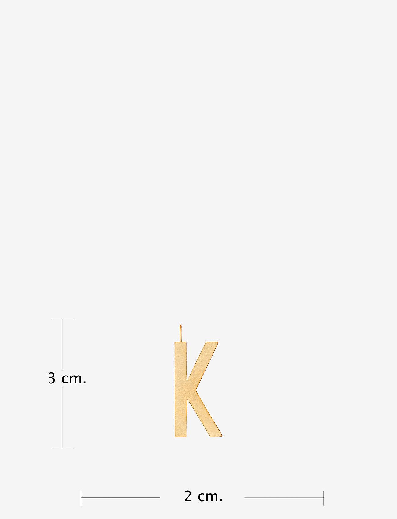 Design Letters - ARCHETYPES 30 MM, GOLD, A-Z - pendentifs - gold - 1