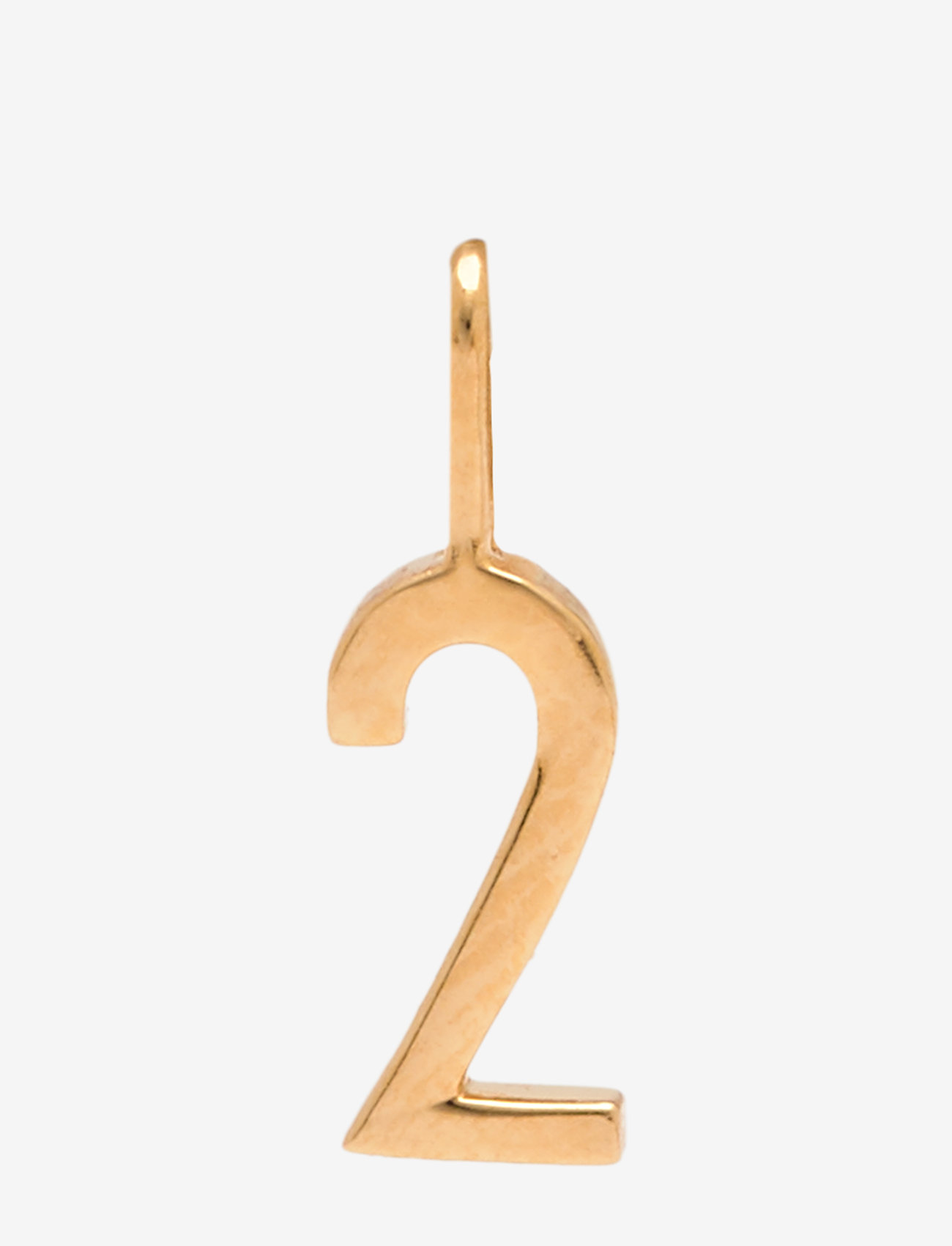 Design Letters - Lucky numbers 10mm Gold - pendentifs - gold - 0