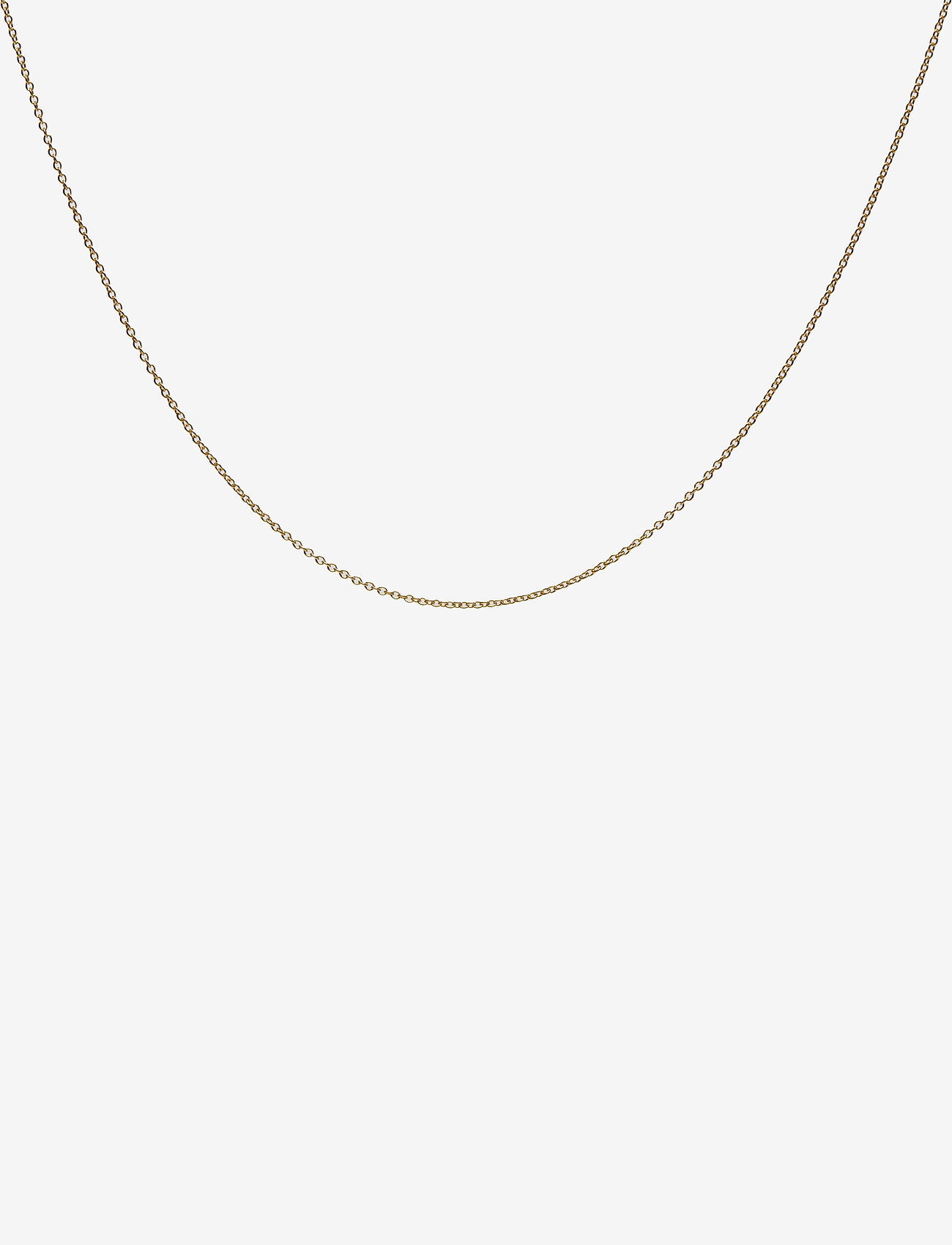 Design Letters - 45cm chain 18k gold plated silver - colliers - gold - 0