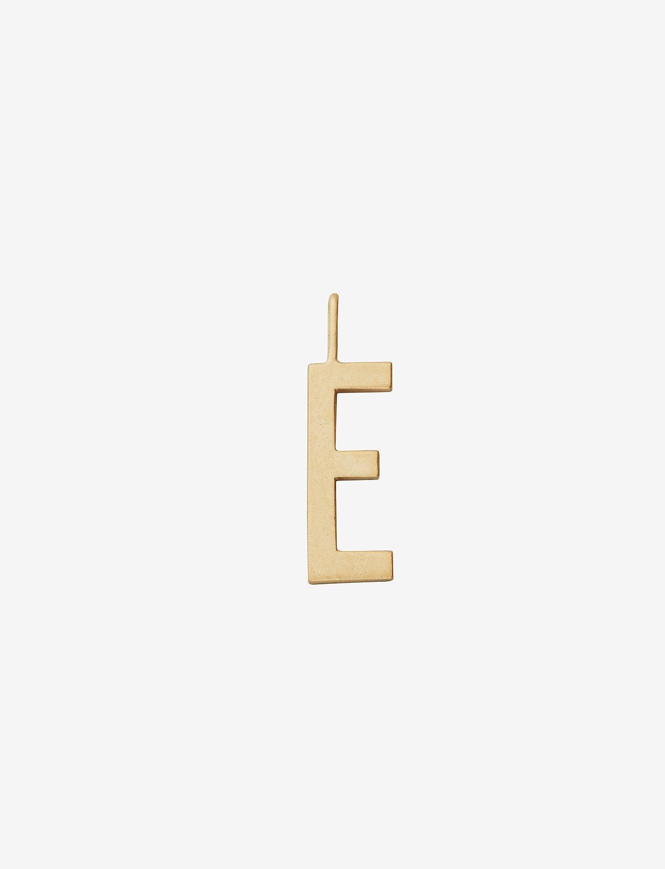 Design Letters - 16mm matt 18k gold plated silver a-z - pendentifs - gold - 0