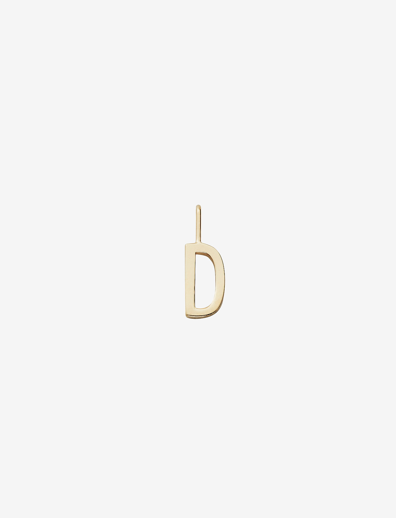 Design Letters - 10mm 18k gold plated silver a-z - pendentifs - gold - 0